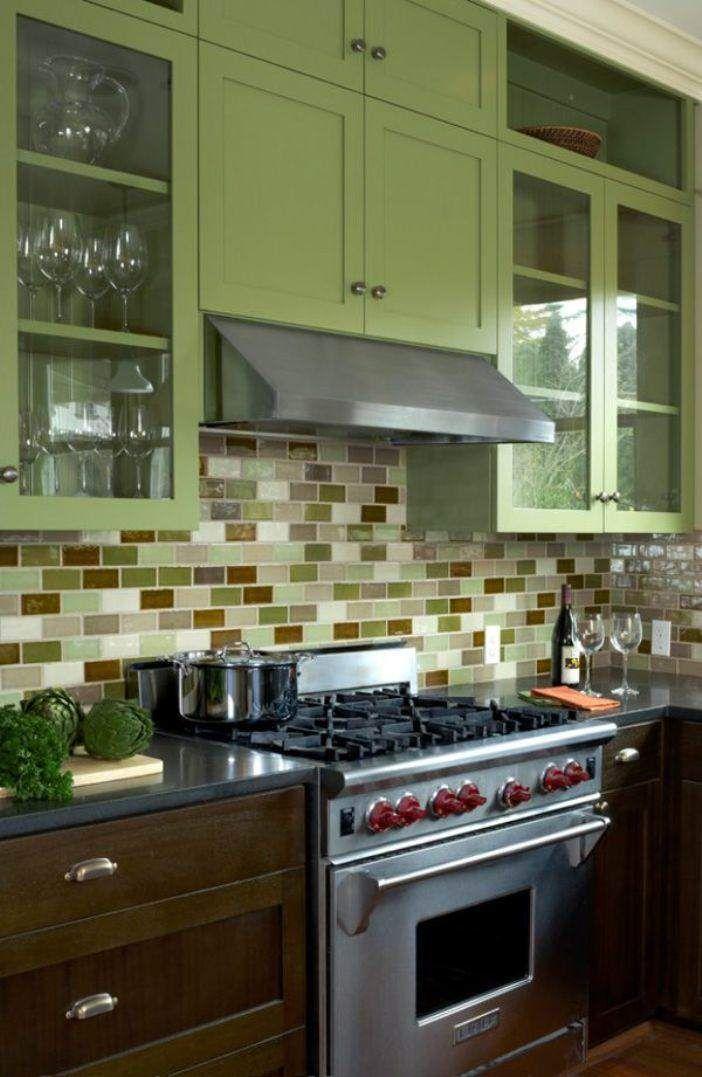 17 mejores ideas sobre gabinetes de cocina verde en pinterest ...