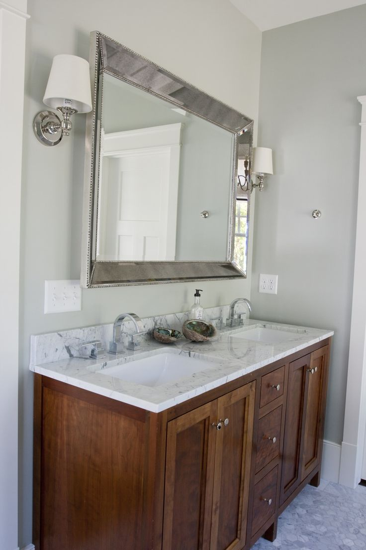 Stained Shaker Panel Bathroom Cabinets The W C
