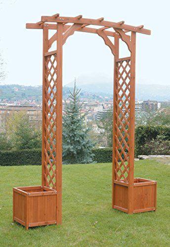 steccati in legno con fioriera