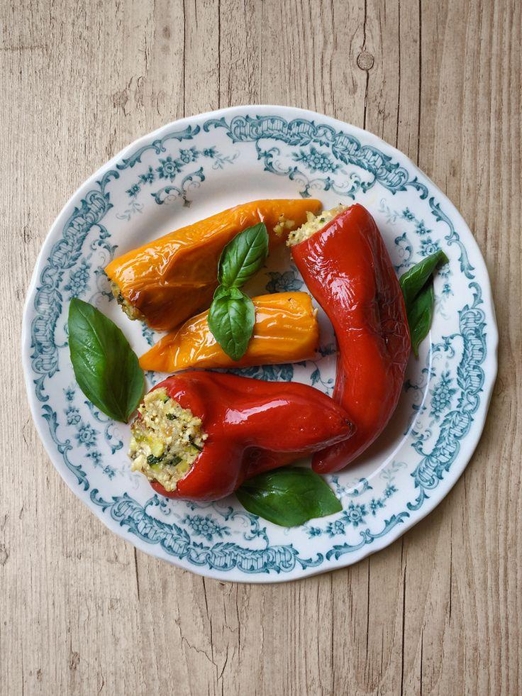 peperoni ripieni alle erbe aromatiche * Herb stuffed mini peppers #vegan