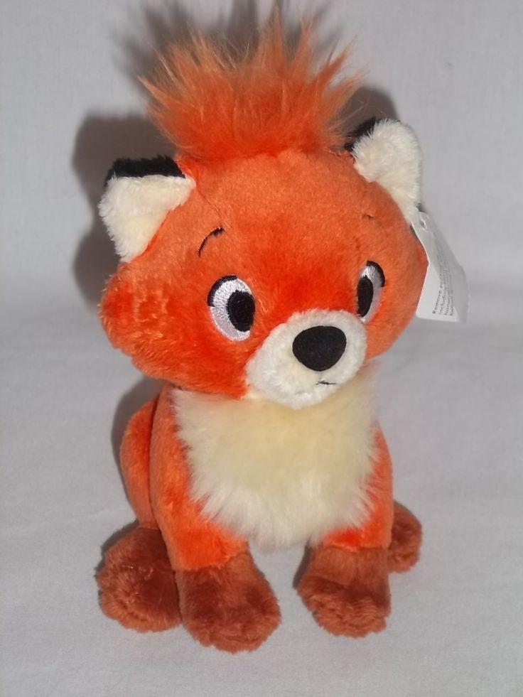 disney stuffed animals   fox and the hound plush todd disney store orange stuffed animal toy