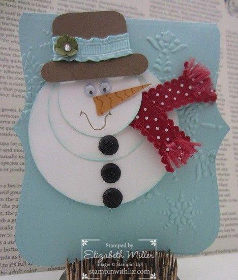 Stampin' Up snowman from Liz Miller