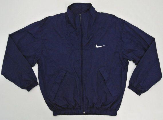 Nike Windbreaker Men Small Medium Vintage 90s Nike by neverfull