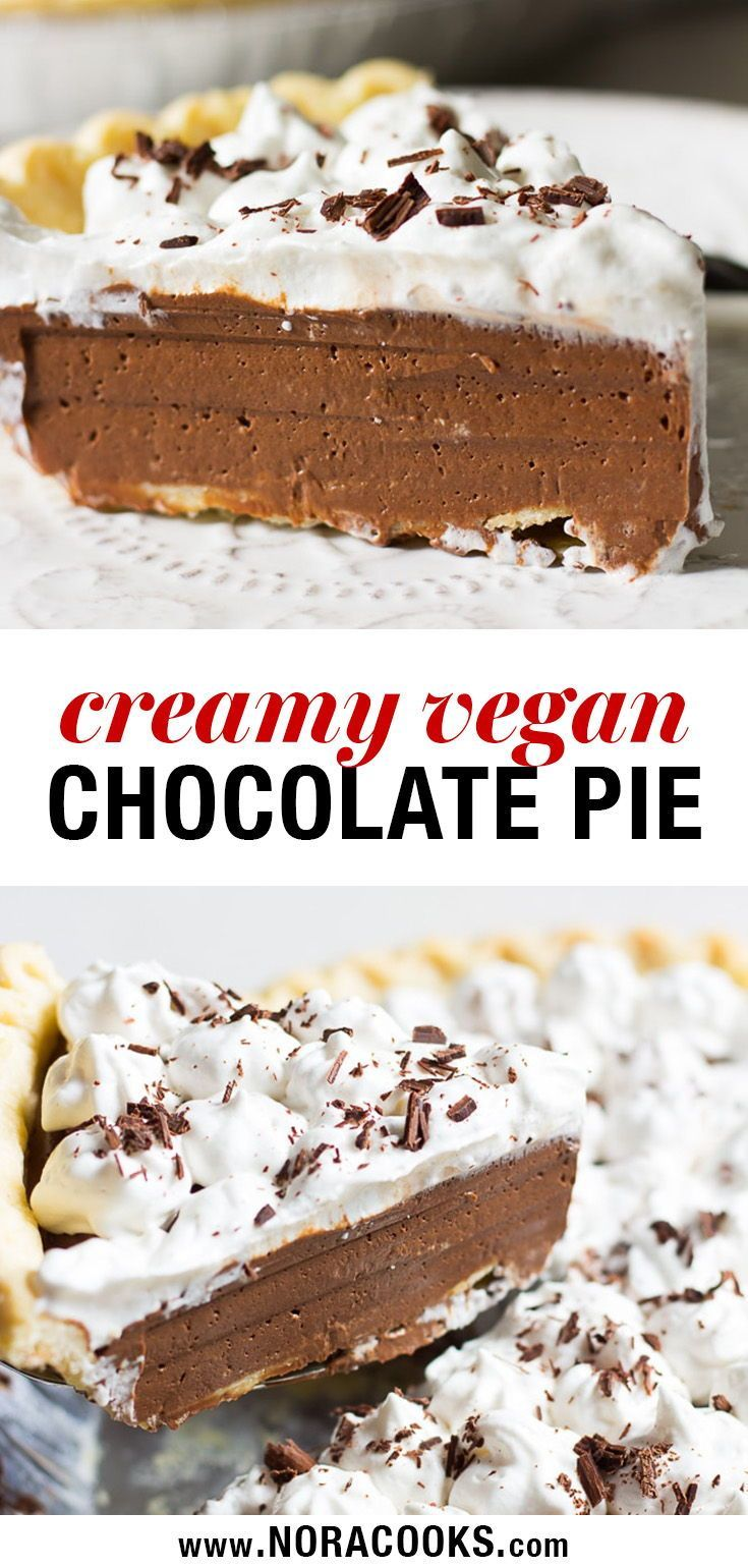 This creamy dairy free chocolate pie is a plant based lifestyle must-make! It's …