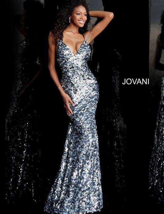 bbea4a9bb5 Jovani 67448 Sequin Prom Gown with Open Back in 2019