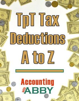 This free product contains a list of tax deductions for TpT sellers. It is organized alphabetically and presented in two formats. First, an easily printable two page checklist is provided. Next, you will find an illustrated list by letter.I hope you find this product helpful!