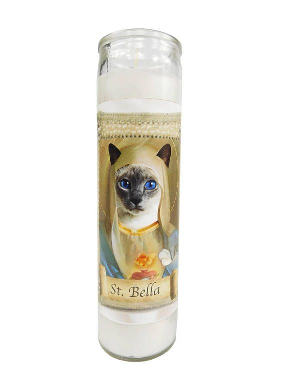 Saint My Pet Customizable Gift Candle - The perfect holiday gift for a pet lover. Love your pet? Saint them!