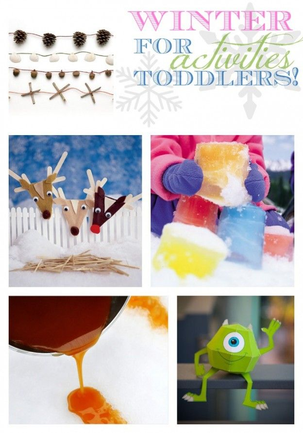 The best winter activities for toddlers.
