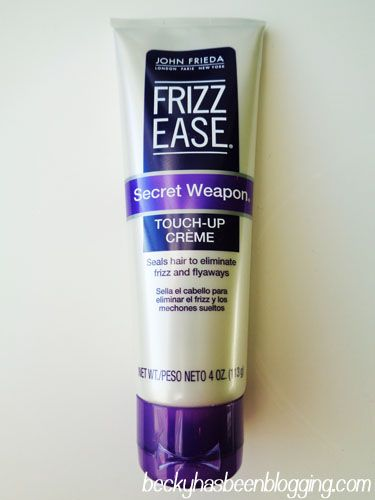 If you have frizzy, fly away hair, check out this product review for Frizz Ease Secret Weapon Touc-Up Cream. It will help you get rid of your birds nest head of hair!