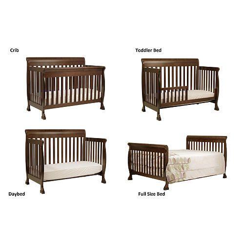 "DaVinci Kalani 4-in-1 Convertible Crib with Toddler Rail - Espresso - DaVinci - Babies ""R"" Us"