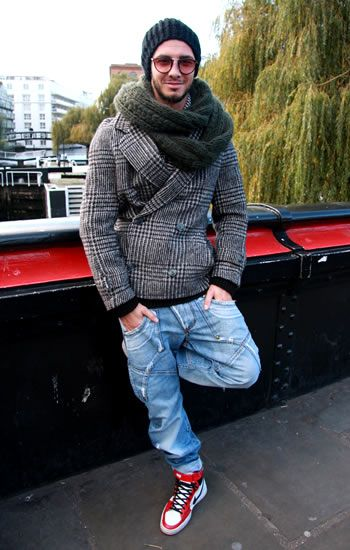 great style... plus! he's gorgeous :P