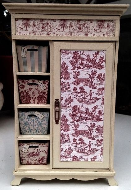 Shabby Chic Miniature Wardrobe