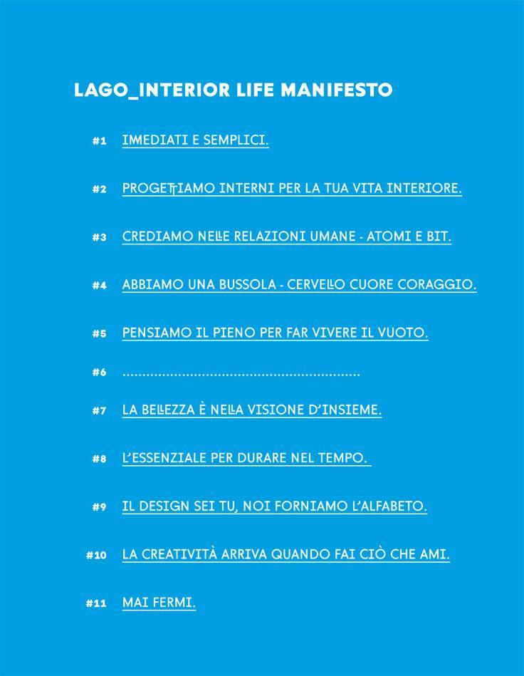 Interior Life Manifesto of Lago • fa realmente piacere scoprire di aver trovato un'azienda con cui condividere una visione che va ben al di la del business