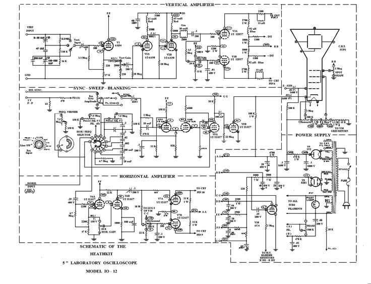 minimalist oscilloscope circuit diagram  u2013 readingrat net