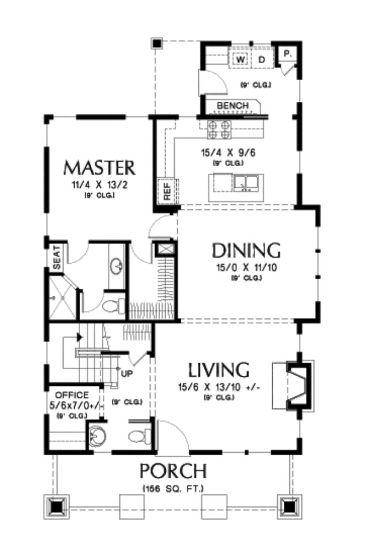 Classic Craftsman Bungalow With Loft (HWBDO76515) | Bungalow House Plan  From BuilderHousePlans.com