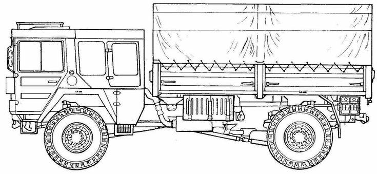 man kat1 blueprint  man blueprints expedition truck