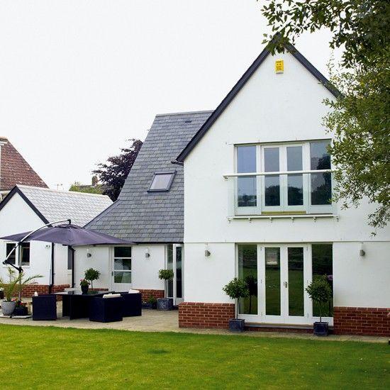Bungalow Haus Modern Grundriss Mit Walmdach Architektur: Hausfassade Modern Bungalow