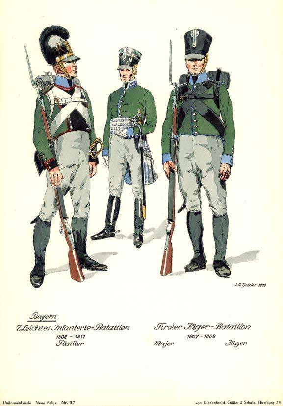 Bavarian light infantry, Napoleonic wars