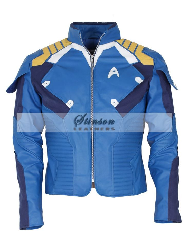 Check out Star Trek Beyond Chris Pine Leather Jacket Costume - The 2016 Movie Celebrity Leather Mens Jacket