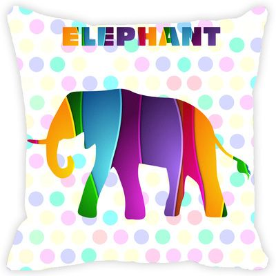 Leaf Designs Multicoloured Elephant Cushion Cover Cushion Covers on Shimply.com