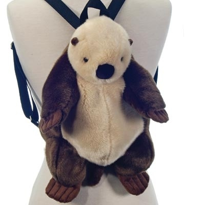 I Love My Otter Backpack Plush Sea Otter Backpack By