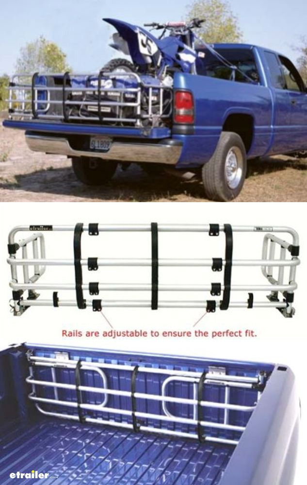 """This universal bed expander is great when you are hauling loads just longer than the truck's bed, but not longer than the tailgate. The bed expander is mounted securely with stainless steel hardware to one bracket on each side of the truck's tailgate. Bed expander folds up, leaving all but 5"""" of the bed available for cargo."""
