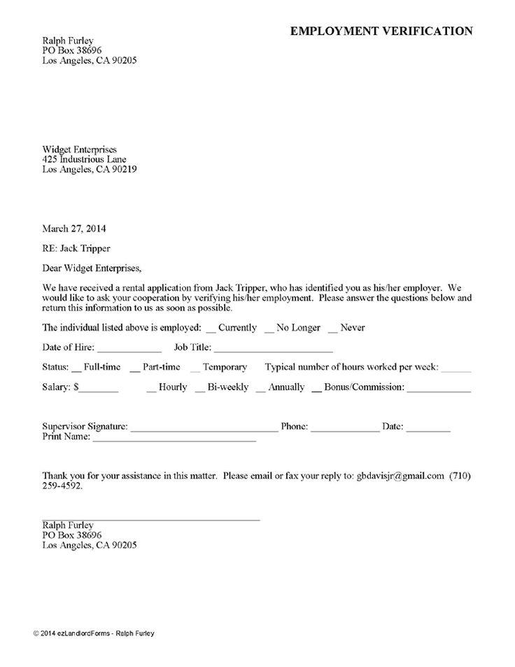 1779 best Real Estate Forms images on Pinterest Rental property - blank employment verification form