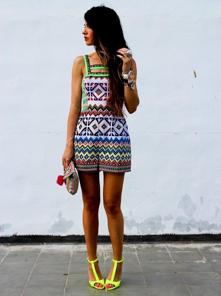 Shop this look on Kaleidoscope (romper, heels, clutch, watch, ring)  http://kalei.do/W8APVBDQ2LKglr1w