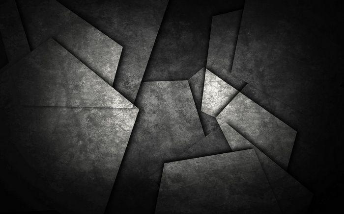 Monochrome Pattern Shapes Metal Abstract Minimalism Dark Triangle Geometry Wallpap Dark Wallpaper Black Textured Wallpaper Hd Dark Wallpapers