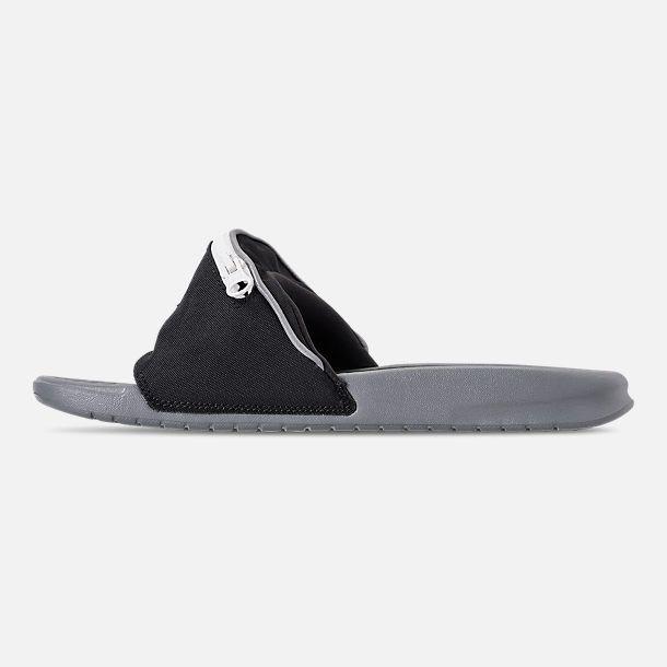 795963940400 Left view of Men s Nike Benassi JDI Fanny Pack Slide Sandals