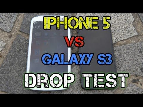 This video is a drop test between the iPhone 5 vs the Galaxy S3.