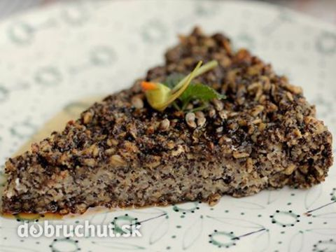 Vegánsky ovsený koláč s makom