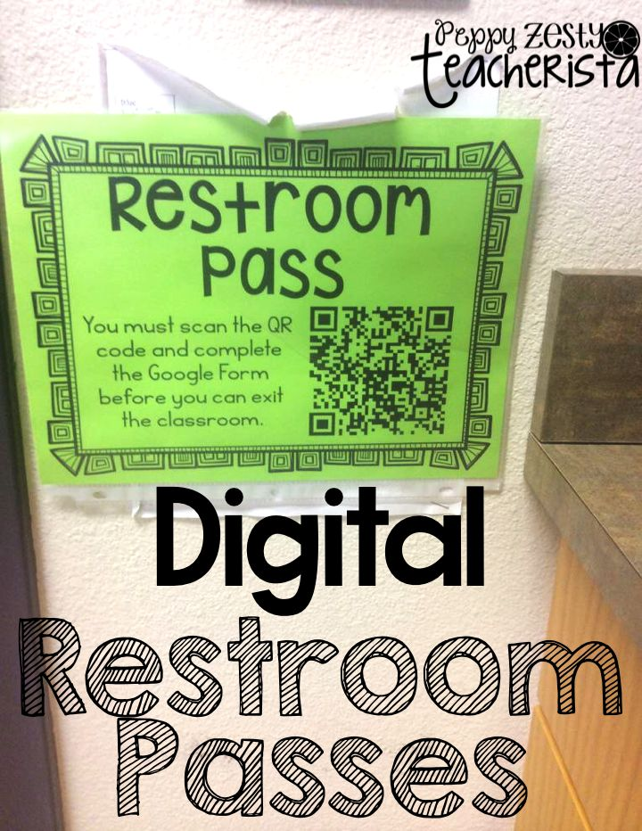 PeppyZestyTeacherista: Digital Restroom Passes