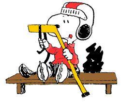 Snoopy Loves Ice Hockey