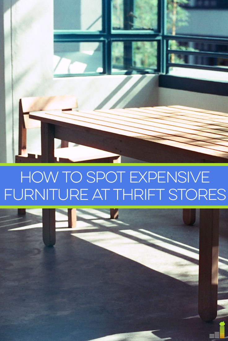 How To Spot Expensive Furniture At Thrift Stores