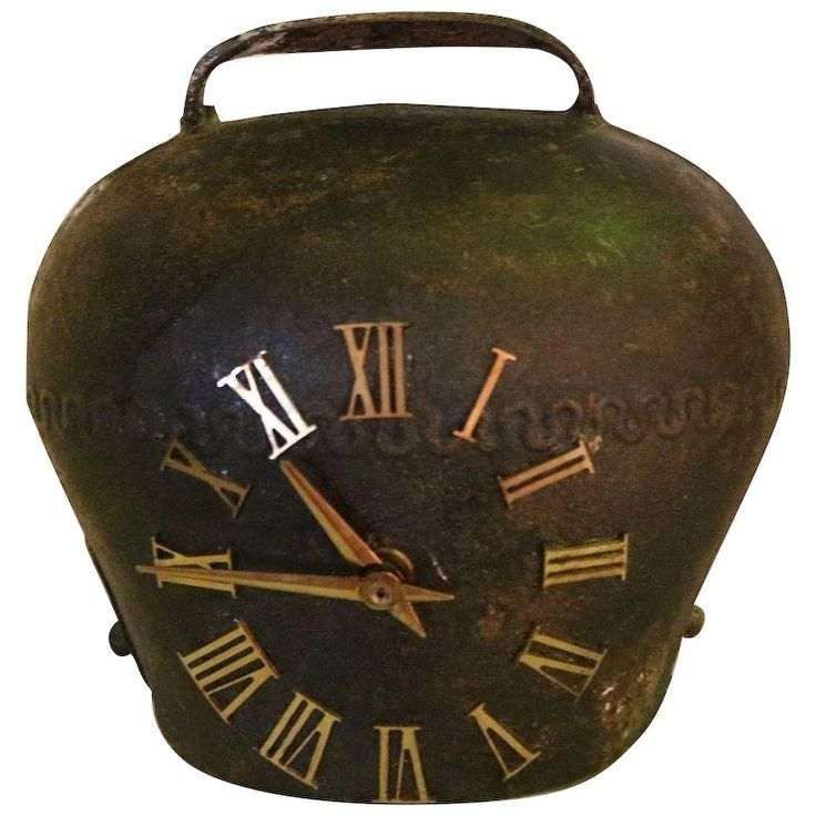 Large Cast Iron Cowbell Clock