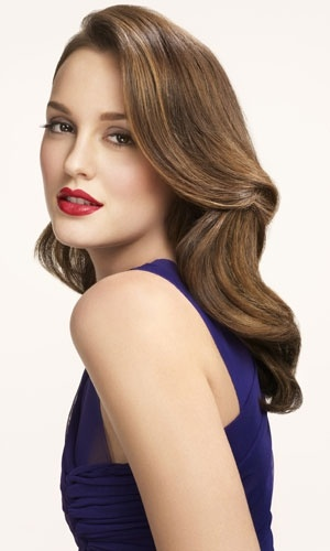 Leighton Meester. bright lip