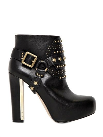 Wowzers. 120MM STUDDED CALFSKIN ANKLE BOOTS