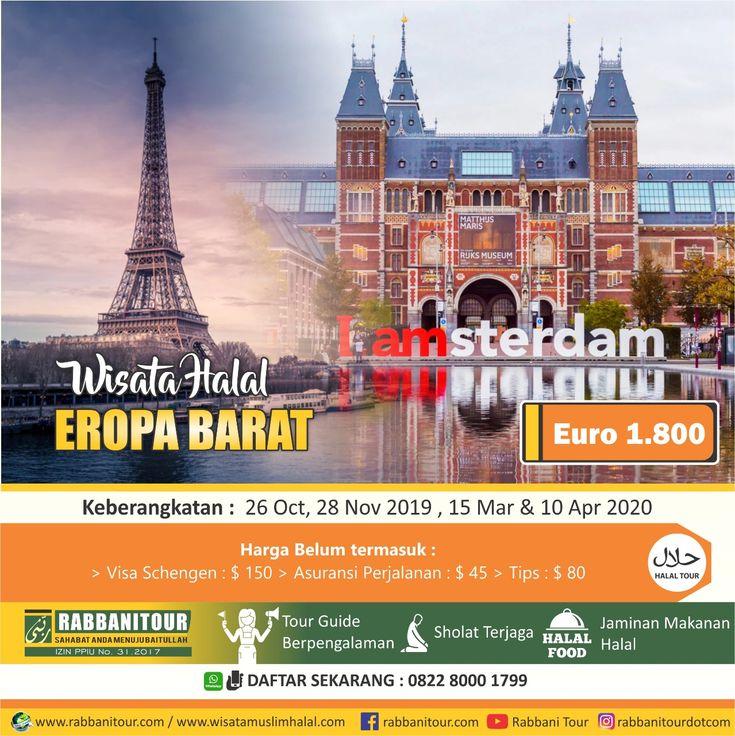 Wisata Halal Eropa Barat akan memakan waktu 10 hari 7