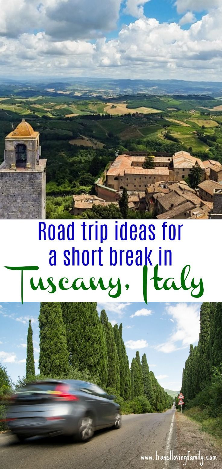 Road trip ideas for a memorable short break in Tuscany including the must see sights in Florence and Siena and photo stops in Volterra and San Gimignano.  Bookmark for your next holiday to Tuscany!