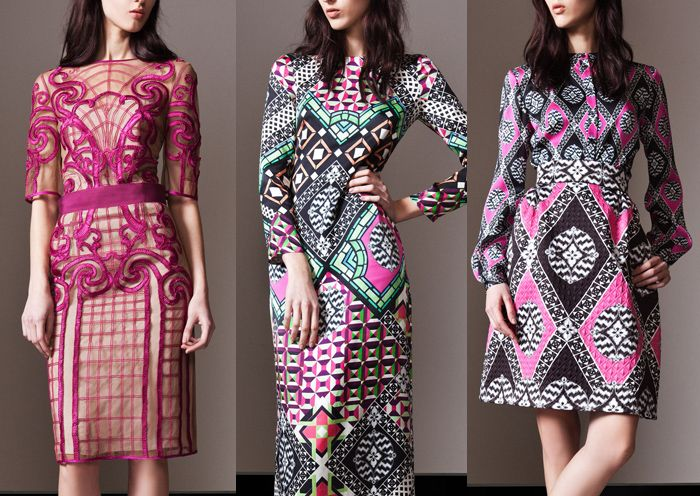 Temperley London - Pre Fall 2014-Decorative Pattern Forms – 70s Inspired Prints  - Architectural Patterns  – Modern Mosaic Effects – Bold Pattern Plays – Intense Structure