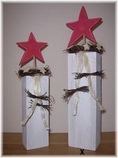 Stele aus Holz mit Stern ca. 50 cm von lampenfieber17 auf DaWanda.com