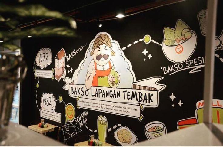 Bakso Lapangan Tembak Senayan Tangcity, Mural for Restaurant, Mural by iMural