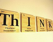 Periodic table of elements tile wall art- $20.00, via Etsy.