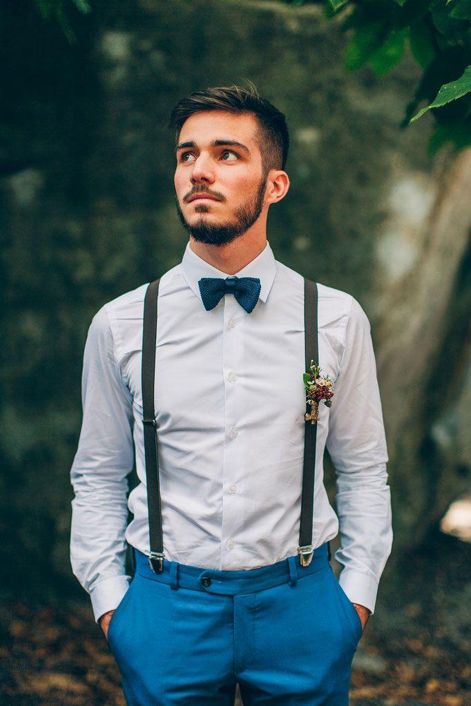 Schmale Hosenträger für die Hochzeit mit Clips und Y-Form
