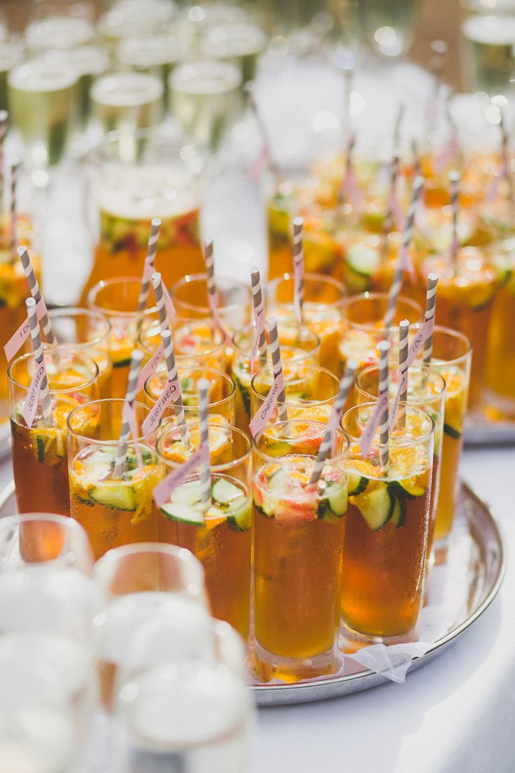 Pimms at a wedding
