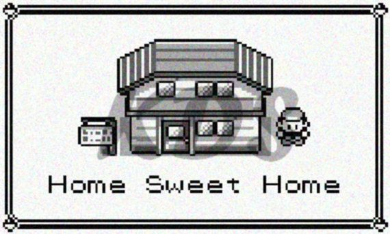Hey, I found this really awesome Etsy listing at https://www.etsy.com/listing/124542235/home-sweet-home-pokemon-sign-cross