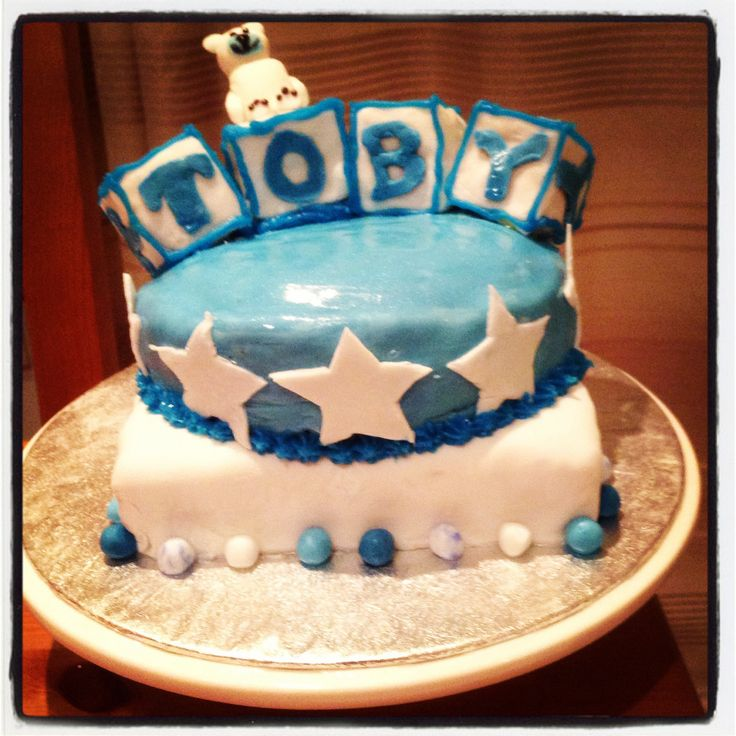 Welcome to the world cake for the new baby Toby