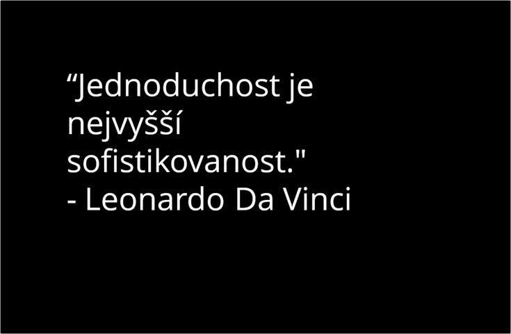 Da Vinci Quote Czech