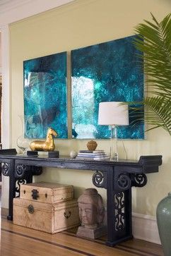 Wondering how to use sunny shades to brighten your home – and your spirits – this spring? How about using Aquamarine?  Check out fun ways to use bold blue shades in your home!